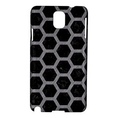 Hexagon2 Black Marble & Gray Colored Pencil Samsung Galaxy Note 3 N9005 Hardshell Case