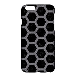 Hexagon2 Black Marble & Gray Colored Pencil Apple Iphone 6 Plus/6s Plus Hardshell Case