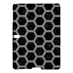 Hexagon2 Black Marble & Gray Colored Pencil Samsung Galaxy Tab S (10 5 ) Hardshell Case