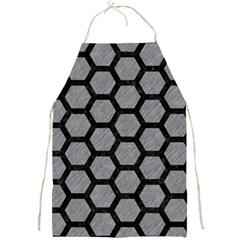 Hexagon2 Black Marble & Gray Colored Pencil (r) Full Print Aprons