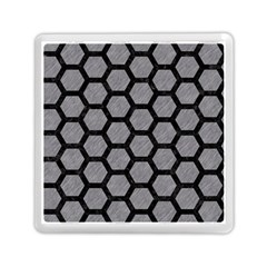 Hexagon2 Black Marble & Gray Colored Pencil (r) Memory Card Reader (square)