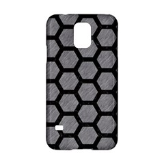 Hexagon2 Black Marble & Gray Colored Pencil (r) Samsung Galaxy S5 Hardshell Case