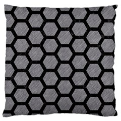 Hexagon2 Black Marble & Gray Colored Pencil (r) Standard Flano Cushion Case (two Sides)