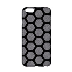 Hexagon2 Black Marble & Gray Colored Pencil (r) Apple Iphone 6/6s Hardshell Case