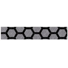 Hexagon2 Black Marble & Gray Colored Pencil (r) Flano Scarf (large)