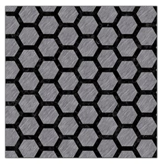 Hexagon2 Black Marble & Gray Colored Pencil (r) Large Satin Scarf (square)