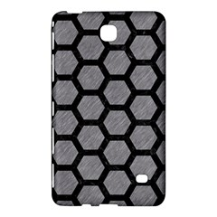 Hexagon2 Black Marble & Gray Colored Pencil (r) Samsung Galaxy Tab 4 (7 ) Hardshell Case