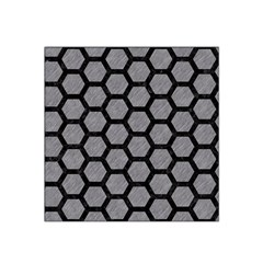 Hexagon2 Black Marble & Gray Colored Pencil (r) Satin Bandana Scarf