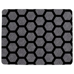 Hexagon2 Black Marble & Gray Colored Pencil (r) Jigsaw Puzzle Photo Stand (rectangular)