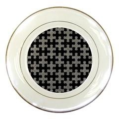 Puzzle1 Black Marble & Gray Colored Pencil Porcelain Plates