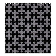 Puzzle1 Black Marble & Gray Colored Pencil Shower Curtain 66  X 72  (large)