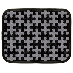 Puzzle1 Black Marble & Gray Colored Pencil Netbook Case (xxl)