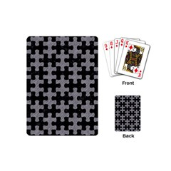 Puzzle1 Black Marble & Gray Colored Pencil Playing Cards (mini)