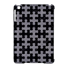 Puzzle1 Black Marble & Gray Colored Pencil Apple Ipad Mini Hardshell Case (compatible With Smart Cover)