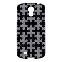 Puzzle1 Black Marble & Gray Colored Pencil Samsung Galaxy S4 I9500/i9505 Hardshell Case