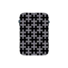 Puzzle1 Black Marble & Gray Colored Pencil Apple Ipad Mini Protective Soft Cases
