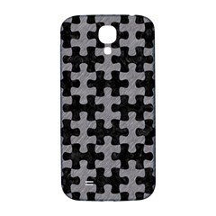 Puzzle1 Black Marble & Gray Colored Pencil Samsung Galaxy S4 I9500/i9505  Hardshell Back Case