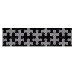 Puzzle1 Black Marble & Gray Colored Pencil Satin Scarf (oblong)