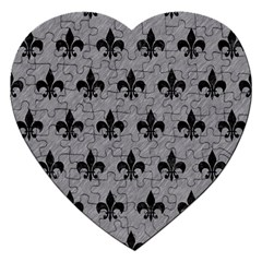 Royal1 Black Marble & Gray Colored Pencil Jigsaw Puzzle (heart)