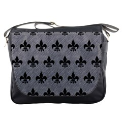 Royal1 Black Marble & Gray Colored Pencil Messenger Bags