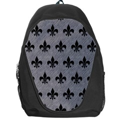 Royal1 Black Marble & Gray Colored Pencil Backpack Bag