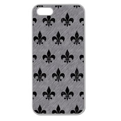Royal1 Black Marble & Gray Colored Pencil Apple Seamless Iphone 5 Case (clear)