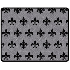 Royal1 Black Marble & Gray Colored Pencil Double Sided Fleece Blanket (medium)