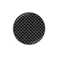 Scales1 Black Marble & Gray Colored Pencil Hat Clip Ball Marker (4 Pack)