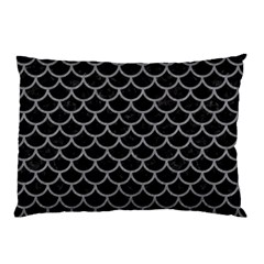 Scales1 Black Marble & Gray Colored Pencil Pillow Case (two Sides)