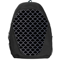 Scales1 Black Marble & Gray Colored Pencil Backpack Bag