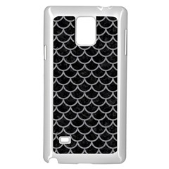 Scales1 Black Marble & Gray Colored Pencil Samsung Galaxy Note 4 Case (white)