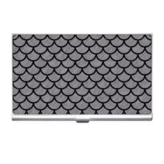 Scales1 Black Marble & Gray Colored Pencil (r) Business Card Holders