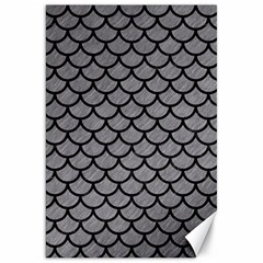 Scales1 Black Marble & Gray Colored Pencil (r) Canvas 20  X 30