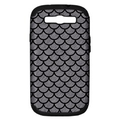 Scales1 Black Marble & Gray Colored Pencil (r) Samsung Galaxy S Iii Hardshell Case (pc+silicone)