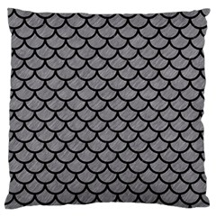 Scales1 Black Marble & Gray Colored Pencil (r) Large Flano Cushion Case (two Sides)