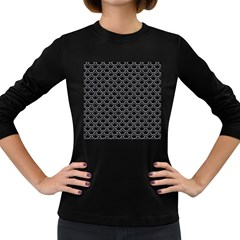 Scales2 Black Marble & Gray Colored Pencil Women s Long Sleeve Dark T Shirts