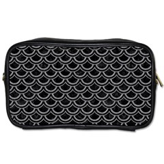 Scales2 Black Marble & Gray Colored Pencil Toiletries Bags