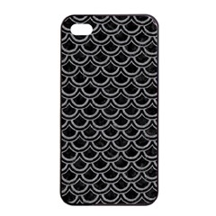 Scales2 Black Marble & Gray Colored Pencil Apple Iphone 4/4s Seamless Case (black)