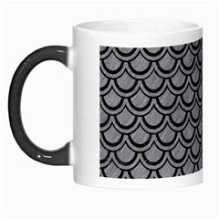 Scales2 Black Marble & Gray Colored Pencil (r) Morph Mugs