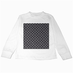 Scales2 Black Marble & Gray Colored Pencil (r) Kids Long Sleeve T Shirts