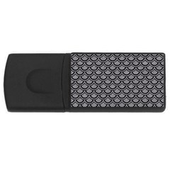 Scales2 Black Marble & Gray Colored Pencil (r) Rectangular Usb Flash Drive