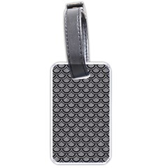 Scales2 Black Marble & Gray Colored Pencil (r) Luggage Tags (one Side)