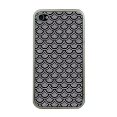 Scales2 Black Marble & Gray Colored Pencil (r) Apple Iphone 4 Case (clear)