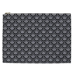 Scales2 Black Marble & Gray Colored Pencil (r) Cosmetic Bag (xxl)