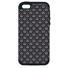 Scales2 Black Marble & Gray Colored Pencil (r) Apple Iphone 5 Hardshell Case (pc+silicone)