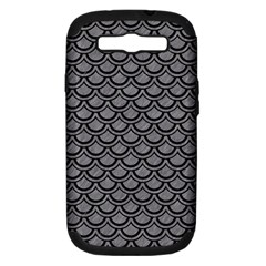 Scales2 Black Marble & Gray Colored Pencil (r) Samsung Galaxy S Iii Hardshell Case (pc+silicone)