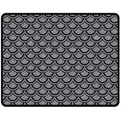 Scales2 Black Marble & Gray Colored Pencil (r) Double Sided Fleece Blanket (medium)