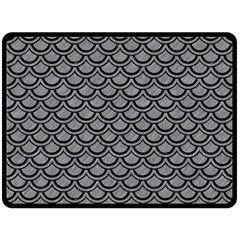 Scales2 Black Marble & Gray Colored Pencil (r) Double Sided Fleece Blanket (large)