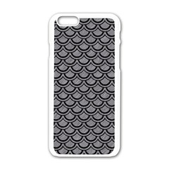 Scales2 Black Marble & Gray Colored Pencil (r) Apple Iphone 6/6s White Enamel Case