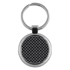 Scales3 Black Marble & Gray Colored Pencil Key Chains (round)